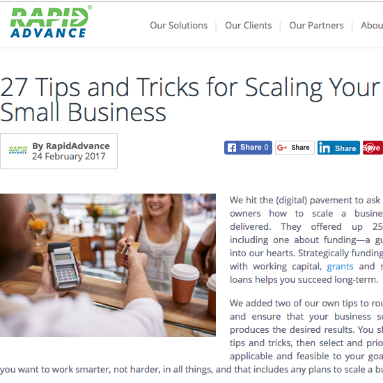 27 Tips and Tricks for Scaling Your Small Business