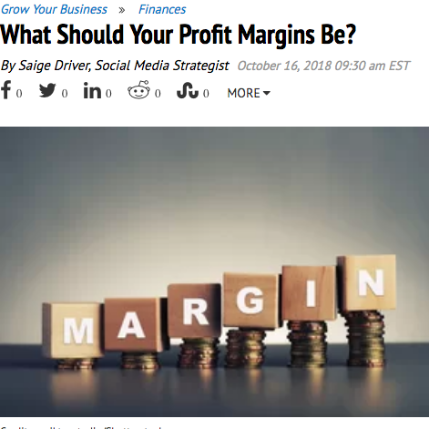 What Should Your Profit Margins Be?